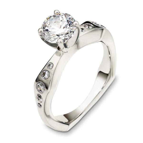 Mονόπετρo δαχτυλίδι μπριγιάν - Κόσμημα και ρολόγια Ketstzoglou