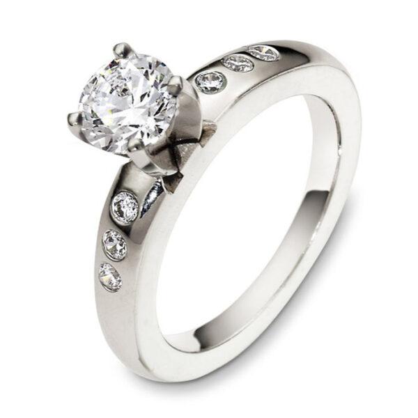 Mονόπετρo δαχτυλίδι μπριγιάν κόσμημα για λόγο by Ketsetzoglou