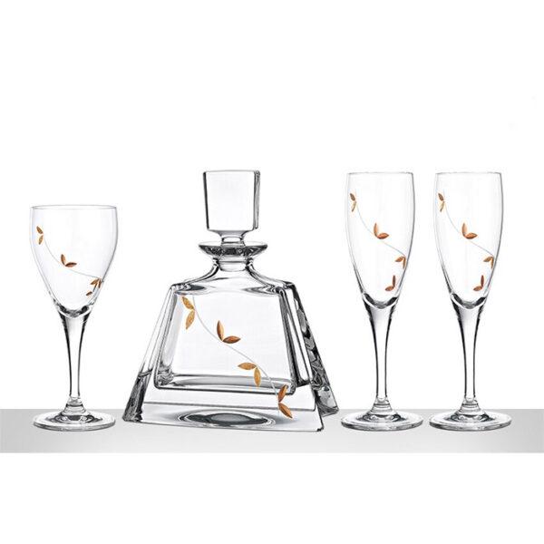 Αριστοκρατικό σετ γάμου δίσκος καραφα ποτήρι - Eshop Ketsetzoglou.gr