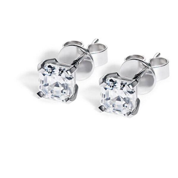 Μονόπετρα σκουλαρίκια με μπριγιάν - Online Eshop Ketsetzoglou.gr