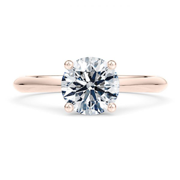 Δαχτυλίδι ροζ χρυσό με διαμάντια - Κόσμημα και ρολόγια Ketsetzoglou