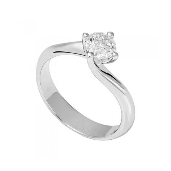 Δαχτυλίδι αρραβώνων με διαμάντια λευκόχρυσο - Eshop Ketsetzoglou.gr