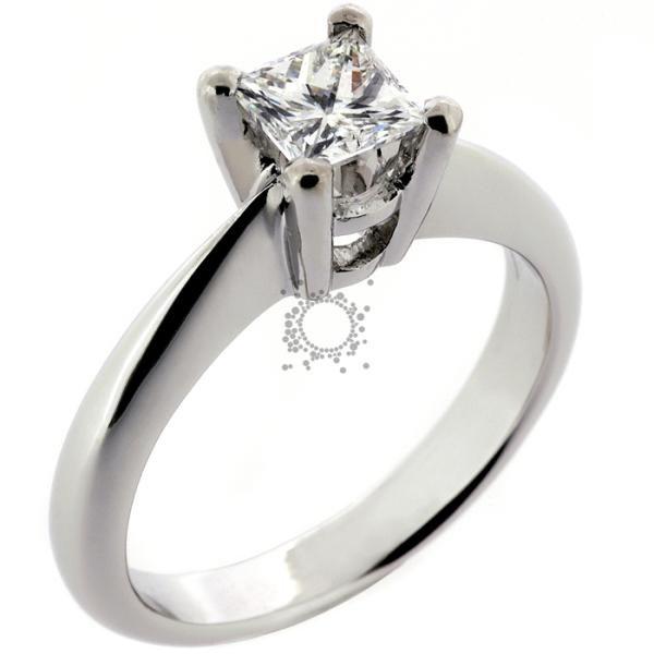 Μονόπετρα διαμάντια princess cut diamond