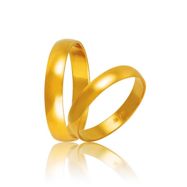 Βέρες γάμου χρυσές κλασικές - Shop online Kosmima-rologia.gr