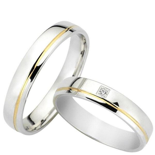 Βέρες γάμου δίχρωμες - Κόσμημα και ρολόγια Κετσετζόγλου