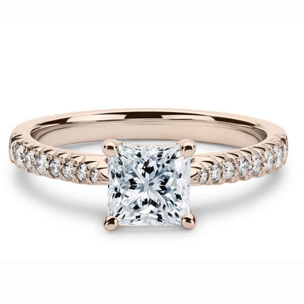 Μονόπετρο δαχτυλίδι με διαμάντια chic vintage