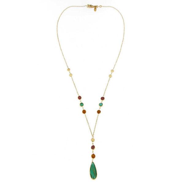 Exclucive jewellery Ketsetzoglou κολιέ 18 Κ σε κίτρινο χρυσό Rainbow Collection